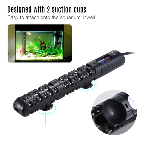 50W Submersible Aquarium Heater Fish Tank Water Heating Rod Temperature Adjustable with LED display Protective Sleeve Suction CupHome &amp; Garden<br>50W Submersible Aquarium Heater Fish Tank Water Heating Rod Temperature Adjustable with LED display Protective Sleeve Suction Cup<br>