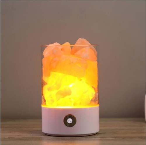 USB Crystal Light Natural Himalayan Solt LED Очиститель воздуха