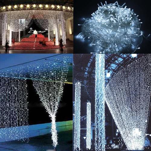Blue 13M 120LED Solar Christmas String Light Wedding Party Garden LightsHome &amp; Garden<br>Blue 13M 120LED Solar Christmas String Light Wedding Party Garden Lights<br>