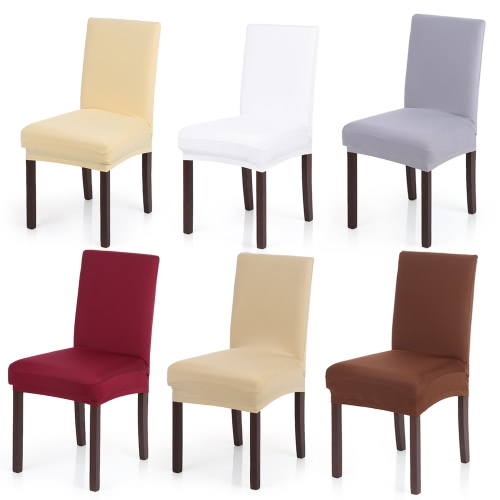 High Quality Stretch Removable Washable Short Dining Chair Cover Soft Milk Silk Spandex Chair Cover Slipcover for Wedding Party HoHome &amp; Garden<br>High Quality Stretch Removable Washable Short Dining Chair Cover Soft Milk Silk Spandex Chair Cover Slipcover for Wedding Party Ho<br>