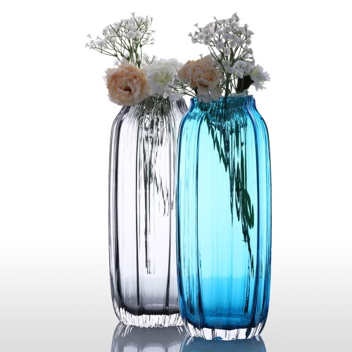 CASAMOTION 31cm Hand Blown Modern Ribbed Design Glass Vase Home Art Decoration Floral Arrangements Straight ShapeHome &amp; Garden<br>CASAMOTION 31cm Hand Blown Modern Ribbed Design Glass Vase Home Art Decoration Floral Arrangements Straight Shape<br>