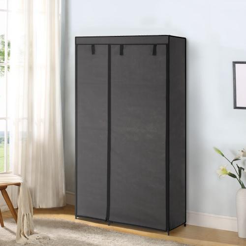 iKayaa Portable Fabric Closet Wardrobe Cabinet Storage Organizer Clothes HangerHome &amp; Garden<br>iKayaa Portable Fabric Closet Wardrobe Cabinet Storage Organizer Clothes Hanger<br>