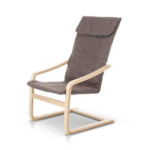 iKayaa Contemporary Reclining Bentwood Chair 286LB Capacity Natural Birch Wood Lounge Chair Comfortable ArmchairHome &amp; Garden<br>iKayaa Contemporary Reclining Bentwood Chair 286LB Capacity Natural Birch Wood Lounge Chair Comfortable Armchair<br>