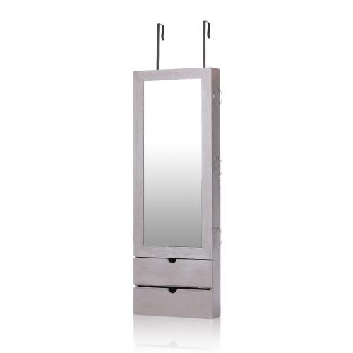 iKayaa Mirrored Hanging Jewelry Armoire Door/Wall Mount Jewelry Cabinet Storage Box OrganizerHome &amp; Garden<br>iKayaa Mirrored Hanging Jewelry Armoire Door/Wall Mount Jewelry Cabinet Storage Box Organizer<br>