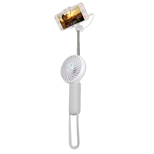 3 in 1 Multifunction Mini Portable USB Fan with 3 Level Adjustable Fan Speed Selfie Stick Handheld Fan with Silicone HandleHome &amp; Garden<br>3 in 1 Multifunction Mini Portable USB Fan with 3 Level Adjustable Fan Speed Selfie Stick Handheld Fan with Silicone Handle<br>