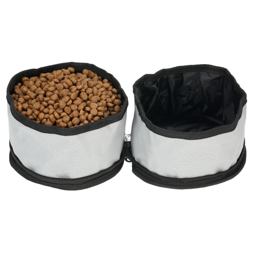 TAILUP Collapsible Oxford Fabric Pet Dog Food Water Bowl Bag Dual-Bowl Feeder Container for Travel Outdoor ActivitiesHome &amp; Garden<br>TAILUP Collapsible Oxford Fabric Pet Dog Food Water Bowl Bag Dual-Bowl Feeder Container for Travel Outdoor Activities<br>