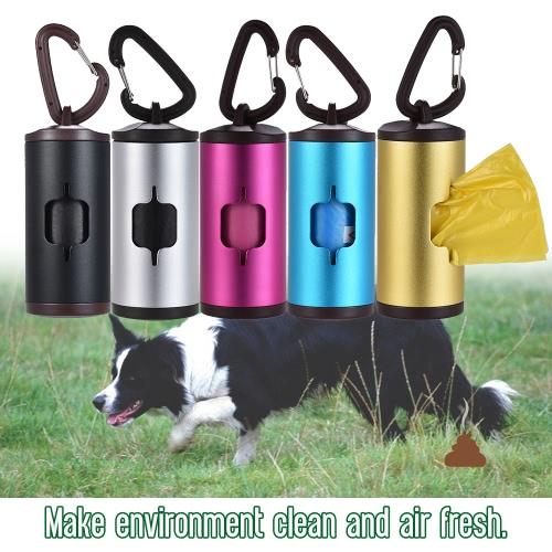 Colorful Pet Poop Holder Dog Waste Dispenser Aluminum Tube Includes 15pcs Waste Bags RefillableHome &amp; Garden<br>Colorful Pet Poop Holder Dog Waste Dispenser Aluminum Tube Includes 15pcs Waste Bags Refillable<br>