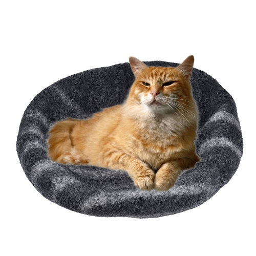 Handcrafted Felted Wool Pet Cat Cave Bed Nest Soft Comfortable for Large Cats and KittensHome &amp; Garden<br>Handcrafted Felted Wool Pet Cat Cave Bed Nest Soft Comfortable for Large Cats and Kittens<br>