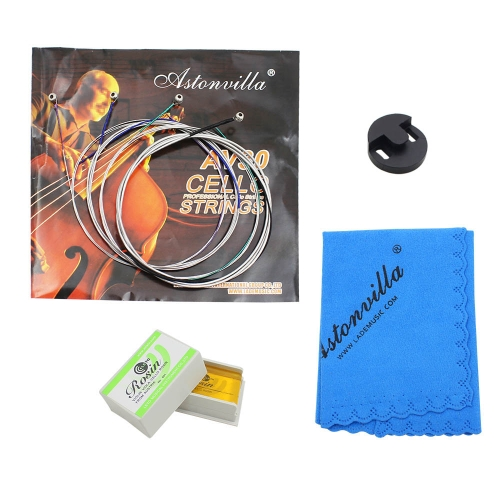Cello 4-in-1 Accessory Kit Rosin Set of Strings Rubber Mute Cleaning ClothToys &amp; Hobbies<br>Cello 4-in-1 Accessory Kit Rosin Set of Strings Rubber Mute Cleaning Cloth<br>