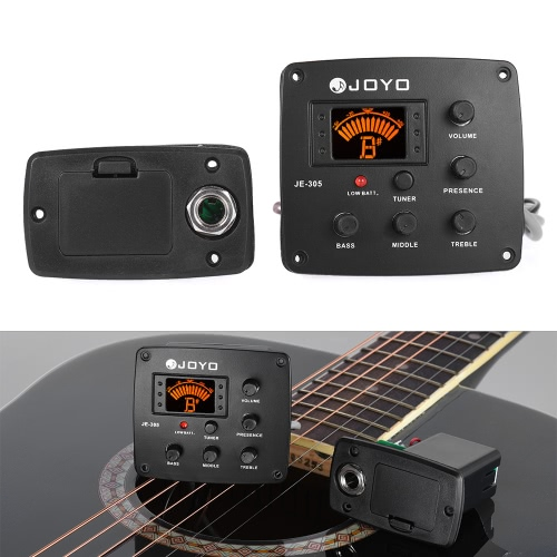 JOYO JE-305 Acoustic Guitar Piezo Pickup Preamp 4-Band EQ Equalizer Tuner System with LCD DisplayToys &amp; Hobbies<br>JOYO JE-305 Acoustic Guitar Piezo Pickup Preamp 4-Band EQ Equalizer Tuner System with LCD Display<br>