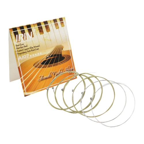Acoustic Folk Guitar Strings Replacement Full Set 6pcs(.011-.052) Steel Core Copper Alloy Wound with End Ball Medium TensionToys &amp; Hobbies<br>Acoustic Folk Guitar Strings Replacement Full Set 6pcs(.011-.052) Steel Core Copper Alloy Wound with End Ball Medium Tension<br>
