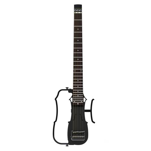 ALP DRA-200 Portátil Plegable Sin Cabeza de Viaje Guitarra Acústica Popular Guitarra Ecualizador de 2 Bandas con AUX IN Auriculares Altavoz Jacks Gig Bag