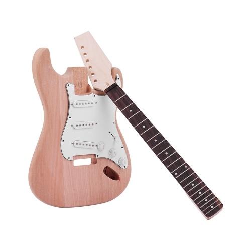Muslady ST Style Unfinished DIY Kit de guitarra eléctrica
