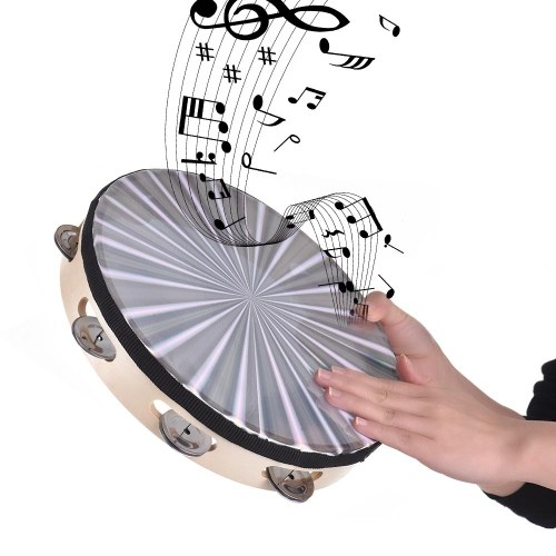 Wooden Radiant Tambourine Handbell Hand Drum