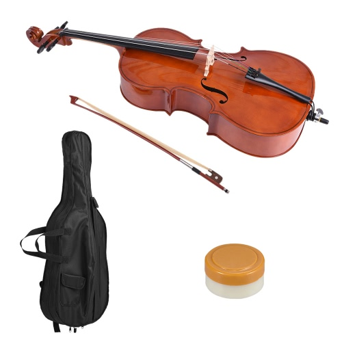 3/4 Wooden Cello Gloss Finish Basswood Face Board with Bow Rosin Carrying Bag for Students Music LoversToys &amp; Hobbies<br>3/4 Wooden Cello Gloss Finish Basswood Face Board with Bow Rosin Carrying Bag for Students Music Lovers<br>