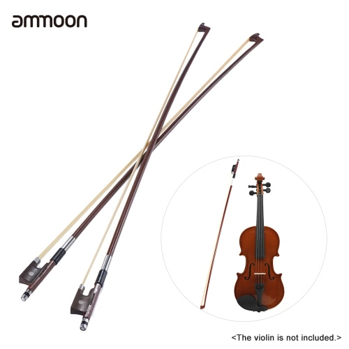 ammoon Full Size 4/4 Violin Fiddle Bow Well Balanced Round Brazil Wood Stick Horsehair Exquisite, Pack of 2pcsToys &amp; Hobbies<br>ammoon Full Size 4/4 Violin Fiddle Bow Well Balanced Round Brazil Wood Stick Horsehair Exquisite, Pack of 2pcs<br>