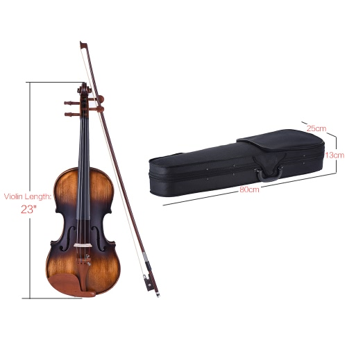 ammoon 4/4 Full Size Violin Matte-Antique Spruce Top Jujube Wood Parts(Peg and Tailpiece) with High Quality Rosin Cleaning Cloth BToys &amp; Hobbies<br>ammoon 4/4 Full Size Violin Matte-Antique Spruce Top Jujube Wood Parts(Peg and Tailpiece) with High Quality Rosin Cleaning Cloth B<br>