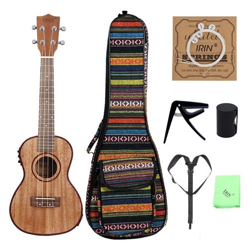 24 Ukulele Ukelele Uke Kit Sapele Wood with LCD EQ Including Carrying Bag Capo Strings Strap Finger Maraca Cleaning ClothToys &amp; Hobbies<br>24 Ukulele Ukelele Uke Kit Sapele Wood with LCD EQ Including Carrying Bag Capo Strings Strap Finger Maraca Cleaning Cloth<br>