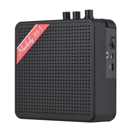 Muslady MS-5 Portable Mini Guitar Amplifier Amp Speaker