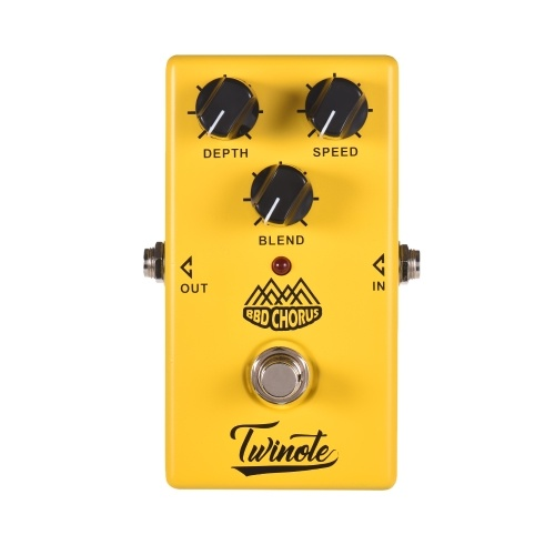 Twinote BBD CHORUSアナログ・コーラス・ギター・エフェクト・ペダル・プロセス・フル・メタル・シェル・トゥルー・バイパス