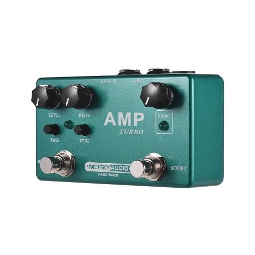 MOSKY AMP TURBO 2-in-1ギターエフェクトペダルブースト+クラシックオーバードライブエフェクト