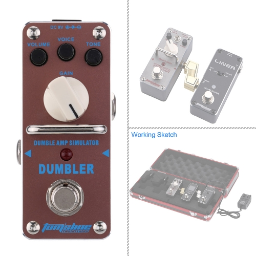 AROMA ADR-3 Dumbler Amp Simulator Mini Single Electric Guitar Effect Pedal with True BypassToys &amp; Hobbies<br>AROMA ADR-3 Dumbler Amp Simulator Mini Single Electric Guitar Effect Pedal with True Bypass<br>