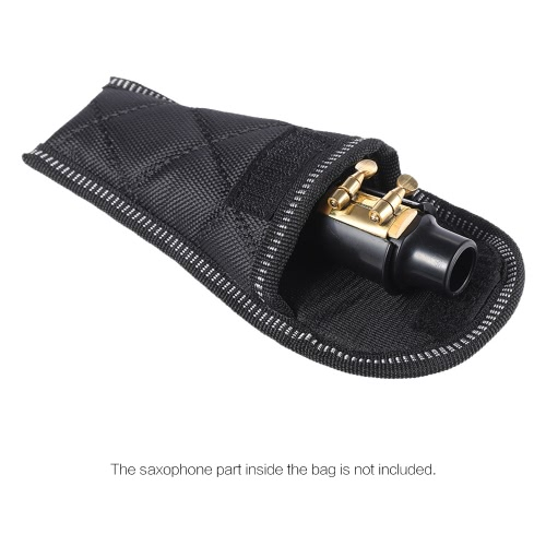 Durable Soft Sax Saxophone Mouthpiece Pouch Bag BlackToys &amp; Hobbies<br>Durable Soft Sax Saxophone Mouthpiece Pouch Bag Black<br>