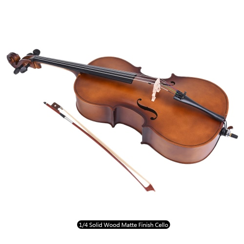 1/4 Wooden Cello Matte Finish Basswood Face Board with Bow Rosin Carrying Bag for Students Music LoversToys &amp; Hobbies<br>1/4 Wooden Cello Matte Finish Basswood Face Board with Bow Rosin Carrying Bag for Students Music Lovers<br>