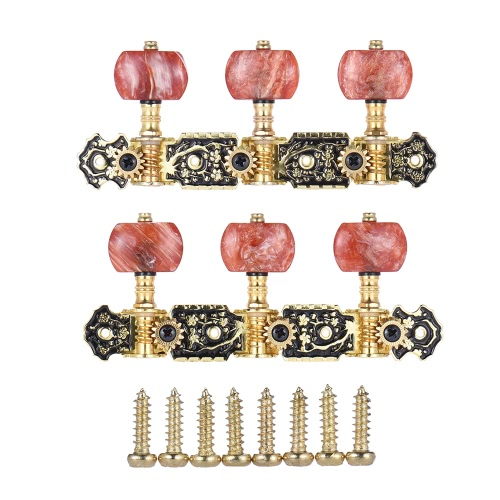 Alice AOS-020HV2P 2pcs(L&amp;R) Acoustic Classical Guitar Tuning Keys Pegs String Tuners 3+3 Machine Heads (Short) Gold and Black PlatToys &amp; Hobbies<br>Alice AOS-020HV2P 2pcs(L&amp;R) Acoustic Classical Guitar Tuning Keys Pegs String Tuners 3+3 Machine Heads (Short) Gold and Black Plat<br>