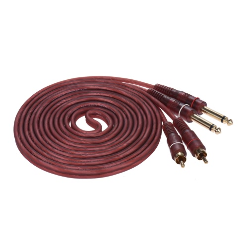Dual 1/4 6.35mm TS Plug to Dual RCA Audio Cable Connector Wire Cord (1.5m / 4.9ft) for AV Amplifier Mixing ConsoleToys &amp; Hobbies<br>Dual 1/4 6.35mm TS Plug to Dual RCA Audio Cable Connector Wire Cord (1.5m / 4.9ft) for AV Amplifier Mixing Console<br>