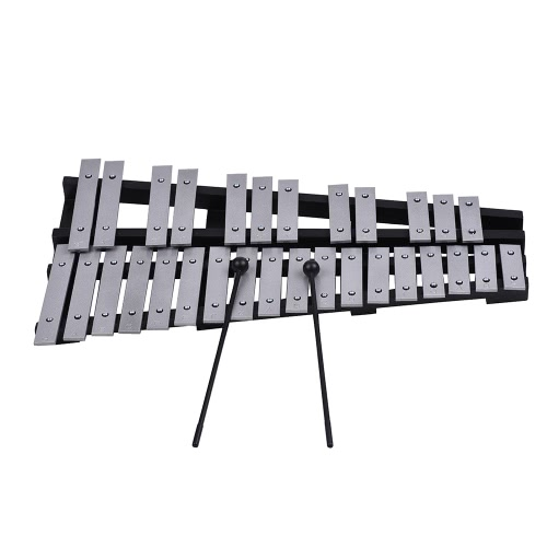 Foldable 30 Note Glockenspiel Xylophone Wooden Frame Aluminum Bars Educational Percussion Musical Instrument Gift with Carrying BaToys &amp; Hobbies<br>Foldable 30 Note Glockenspiel Xylophone Wooden Frame Aluminum Bars Educational Percussion Musical Instrument Gift with Carrying Ba<br>