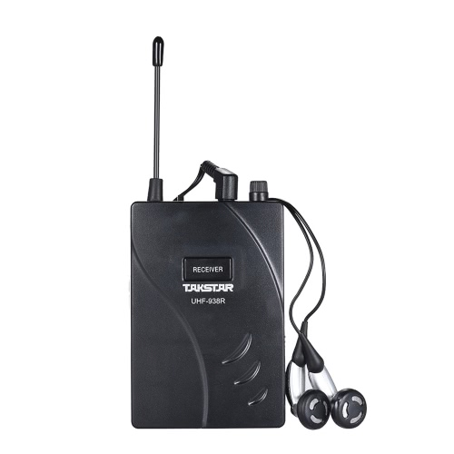 TAKSTAR UHF-938R Upgraded Version Wireless Acoustic Tour Guide Transmission System Receiver 50m Effective Range 432.5-433.5/ 433-4Toys &amp; Hobbies<br>TAKSTAR UHF-938R Upgraded Version Wireless Acoustic Tour Guide Transmission System Receiver 50m Effective Range 432.5-433.5/ 433-4<br>