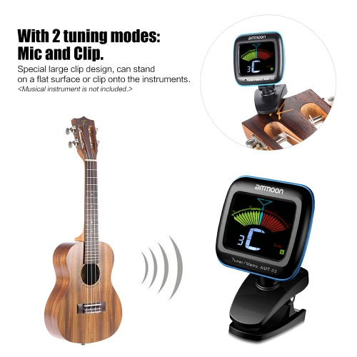 ammoon AMT-03 2 in 1 Digital Tuner Metronome Clip-on Mic Tuning LCD Color Screen for Chromatic Guitar Bass Ukulele ViolinToys &amp; Hobbies<br>ammoon AMT-03 2 in 1 Digital Tuner Metronome Clip-on Mic Tuning LCD Color Screen for Chromatic Guitar Bass Ukulele Violin<br>