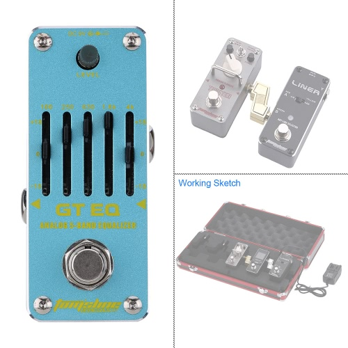 AROMA AEG-3 GT EQ Analog 5-Band Equalizer Electric Guitar Effect Pedal Mini Single Effect with True BypassToys &amp; Hobbies<br>AROMA AEG-3 GT EQ Analog 5-Band Equalizer Electric Guitar Effect Pedal Mini Single Effect with True Bypass<br>
