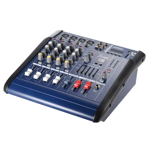 ammoon PMX402D-USB 4 Channel Digtal Mic Line Audio Mixing Mixer Console with 48V Phantom Power 16 Built-in Sound Effects for RecorToys &amp; Hobbies<br>ammoon PMX402D-USB 4 Channel Digtal Mic Line Audio Mixing Mixer Console with 48V Phantom Power 16 Built-in Sound Effects for Recor<br>