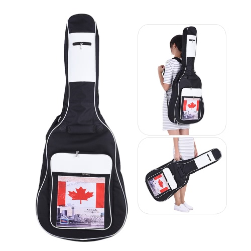 41 Acoustic Classical Guitar Bag Case Backpack Black Adjustable Shoulder Strap Portable 6mm Thicken Padded 600D Canvas Canada FlaToys &amp; Hobbies<br>41 Acoustic Classical Guitar Bag Case Backpack Black Adjustable Shoulder Strap Portable 6mm Thicken Padded 600D Canvas Canada Fla<br>