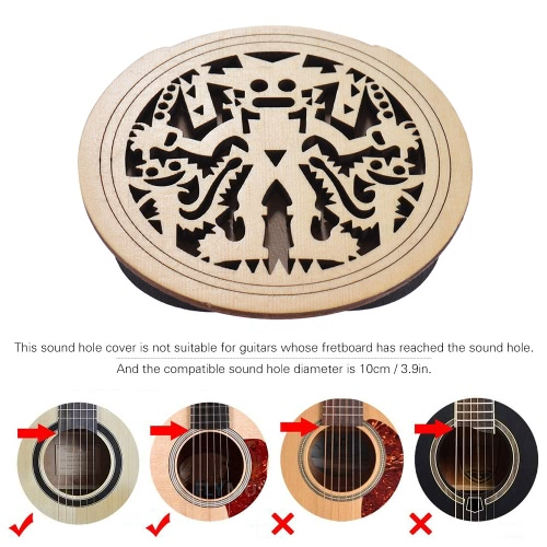 Guitar Wooden Soundhole Sound Hole Cover Block Feedback Buffer Spruce Wood for EQ Acoustic Folk GuitarsToys &amp; Hobbies<br>Guitar Wooden Soundhole Sound Hole Cover Block Feedback Buffer Spruce Wood for EQ Acoustic Folk Guitars<br>
