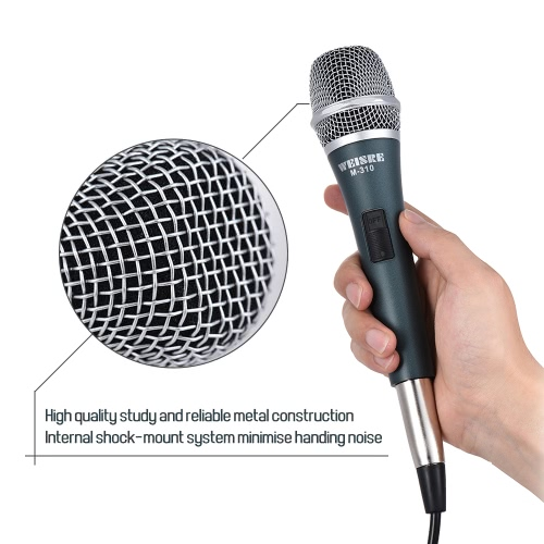 Professional Dynamic Moving-coil Vocal Handheld Microphone Cardioid with 13ft XLR-to-1/4 Detachable Cable for Karaoke Stage HomeToys &amp; Hobbies<br>Professional Dynamic Moving-coil Vocal Handheld Microphone Cardioid with 13ft XLR-to-1/4 Detachable Cable for Karaoke Stage Home<br>