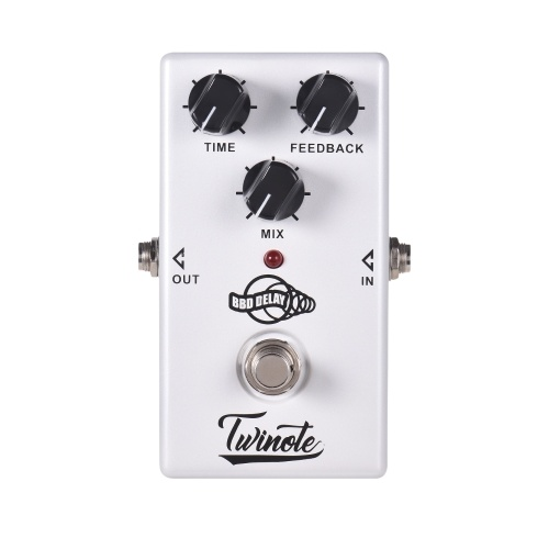 Twinote BBD DELAYアナログディレイギターエフェクトペダルプロセッサー300ms遅延時間True Bypass付きフルメタルシェル