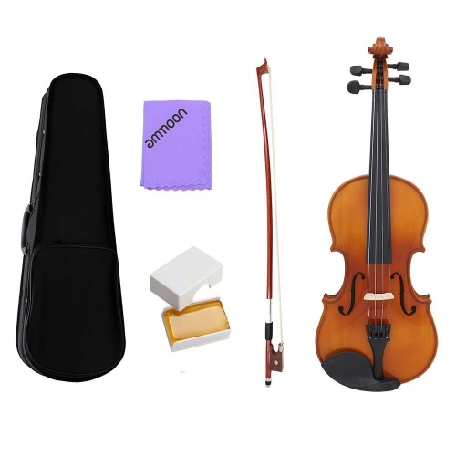 ammoon Full Size 1/4 Violin Fiddle Natural Acoustic Solid Wood Spruce Front Board Flame Maple Veneer for Beginner Student PerformeToys &amp; Hobbies<br>ammoon Full Size 1/4 Violin Fiddle Natural Acoustic Solid Wood Spruce Front Board Flame Maple Veneer for Beginner Student Performe<br>