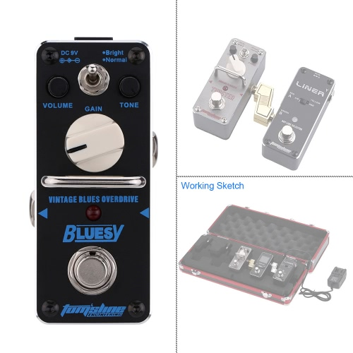 AROMA ABY-3 Bluesy Vintage Blues Overdrive Mini Single Electric Guitar Effect Pedal with True BypassToys &amp; Hobbies<br>AROMA ABY-3 Bluesy Vintage Blues Overdrive Mini Single Electric Guitar Effect Pedal with True Bypass<br>