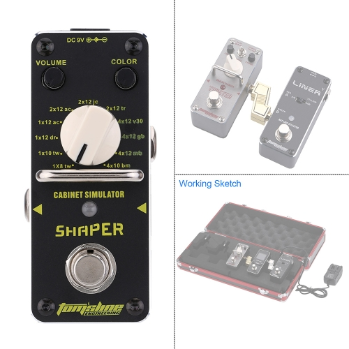 AROMA ASR-3 Shaper Cabinet Simulator Mini Single Electric Guitar Effect Pedal with True BypassToys &amp; Hobbies<br>AROMA ASR-3 Shaper Cabinet Simulator Mini Single Electric Guitar Effect Pedal with True Bypass<br>
