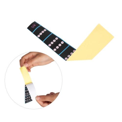 1/4 Violin Fiddle Finger Guide Fingerboard Sticker Label Intonation Chart Fretboard Marker for Practice Beginners