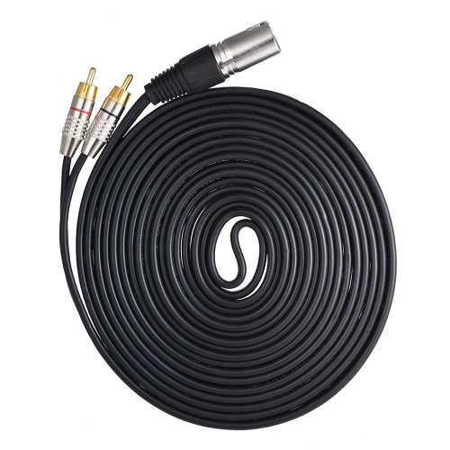 1 XLR Male to 2 RCA Male Plug Stereo Audio Cable Connector Y Splitter Wire Cord (5 meters / 16.4ft) for Microphone Mixing ConsoleToys &amp; Hobbies<br>1 XLR Male to 2 RCA Male Plug Stereo Audio Cable Connector Y Splitter Wire Cord (5 meters / 16.4ft) for Microphone Mixing Console<br>