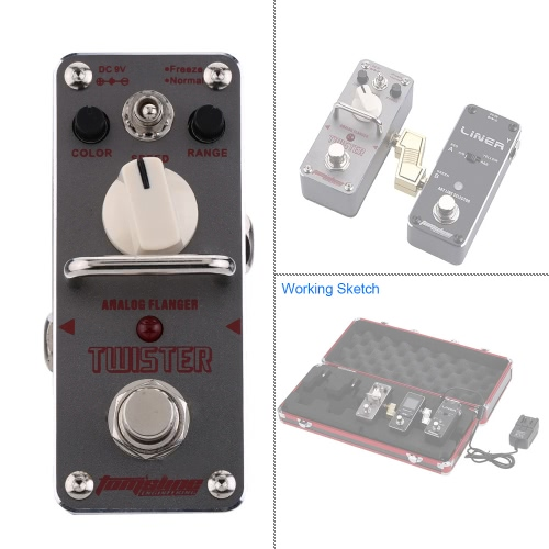 AROMA ATR-3 Twister Analog Flanger Electric Guitar Effect Pedal Mini Single Effect with True BypassToys &amp; Hobbies<br>AROMA ATR-3 Twister Analog Flanger Electric Guitar Effect Pedal Mini Single Effect with True Bypass<br>