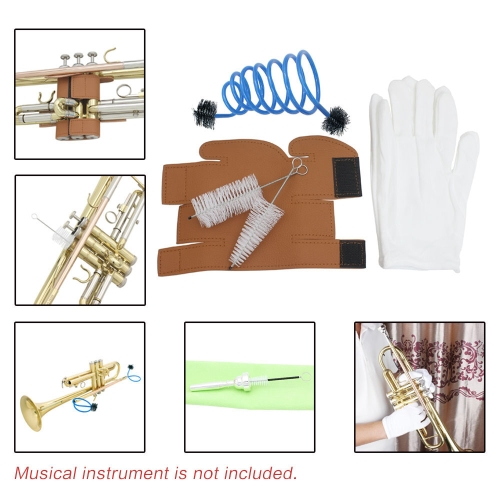 3 in 1 Trumpet Accessory Gloves Cleaning Kit Protective Cover Case Synthetic LeatherToys &amp; Hobbies<br>3 in 1 Trumpet Accessory Gloves Cleaning Kit Protective Cover Case Synthetic Leather<br>