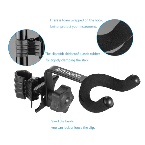 ammoon Adjustable Guitar Clip-on Hanger Keeper Hook for Bass Ukelele Mandolin Metal BlackToys &amp; Hobbies<br>ammoon Adjustable Guitar Clip-on Hanger Keeper Hook for Bass Ukelele Mandolin Metal Black<br>