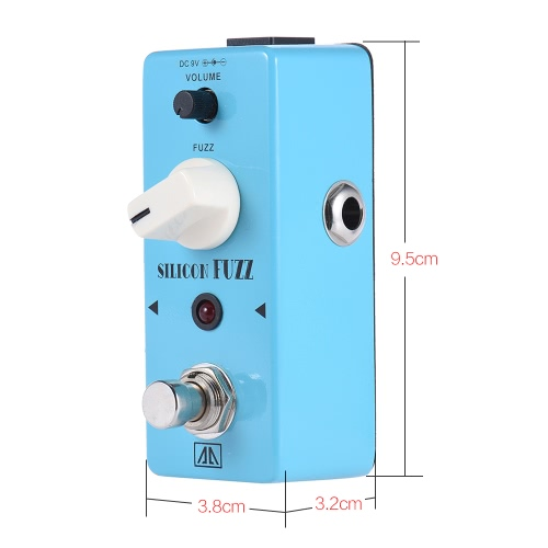 AROMA ASF-5 Classic Silicon Transistor Fuzz Guitar Effect Pedal Aluminum Alloy Body True BypassToys &amp; Hobbies<br>AROMA ASF-5 Classic Silicon Transistor Fuzz Guitar Effect Pedal Aluminum Alloy Body True Bypass<br>
