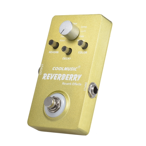 Electric Guitar Digital Reverb Effect Pedal with 9 Reverb Effects True Bypass Full Metal Shell