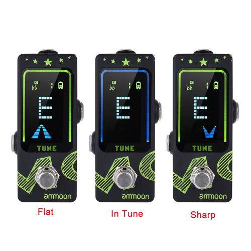 ammoon PT-22 Mini Rechargeable Tuner Pedal LCD Color Display with True Bypass Built-in Lithium Battery for Chromatic GuitarToys &amp; Hobbies<br>ammoon PT-22 Mini Rechargeable Tuner Pedal LCD Color Display with True Bypass Built-in Lithium Battery for Chromatic Guitar<br>